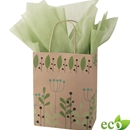 Lime Chevron Shopping Bag