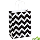 Black Chevron Shopping Bag