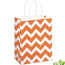 Orange Chevron Shopping Bag