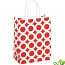 Red White Circles Shopping Bag