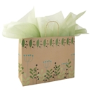 Leaves and Berries Paper Shopping Bag 16x6x13