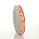 Gingham Orange Ribbon