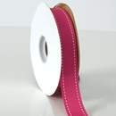 Stitches ribbon shocking pink