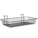 Black shallow basket
