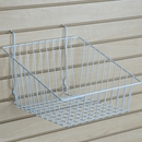 White sloping basket