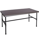 "60""W x 30""D x29"" H Industrial Piping Display Table"