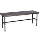 "Industrial Piping Rectangular Table with Dark Walnut Wood Top - 60"" x 18"" x 22"""
