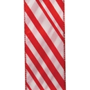 "Candy Cane Stripes Wired Ribbon 2 1/2"" W x 50 Yards"