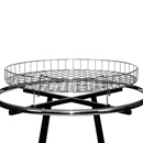 Grid chrome circular rack topper