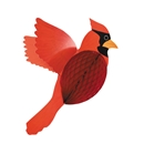 Paper hoenycomb and cardboard Cardinal Paper Decoration