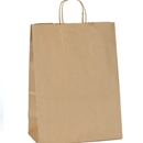 kraft paper shopping bag 13x7x17