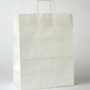 White paper shopping bag 13x7x17
