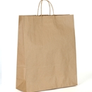 kraft paper shopping bag 16x6x19