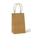 kraft paper shopping bag 5.25x3.5x8.25