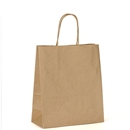 kraft paper shopping bag 8.25x4.75x10.5