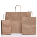 natural kraft shopping bag assortment