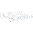 Slatwall sloping shelf white EWHSL22