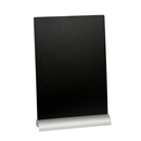 "Table Top Chalkboard with Aluminum Base - 8-1/4"" W x 11-3/8"" H"