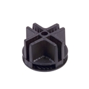 Black plastic connector