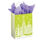 Holiday Trees Paper Shopping Bag