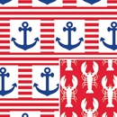 reversible ship ahoy celebration gift wrap