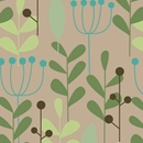 leaves & berries kraft all occasion gift wrap