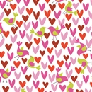 Birds And Hearts Gift Wrap