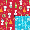 reversible snow buddies holiday gift wrap