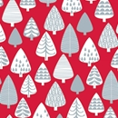 silver forest holiday gift wrap