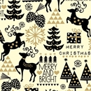 merry and bright holiday gift wrap