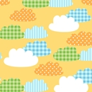 gingham clouds baby gift wrap