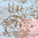 Baby Toile Gift Wrap