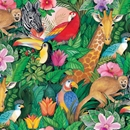 jungle paradise celebration gift wrap