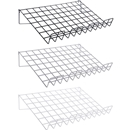 Grid wire slant shelf black