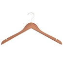 "Brown Distressed Wood Hanger - 17"" Dress/Shirt hanger"