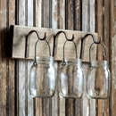 Hook Rack with Jars