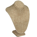 Burlap Necklace Bust Tall