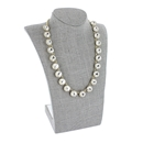 "Gray Linen Curved Bust Necklace Display 11"" H"