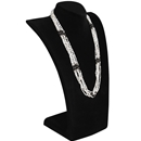 "Black Velvet  Curved Bust Necklace Display 13-3/4"" H"