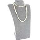 "Gray Linen Curved Bust Necklace Display 13-3/4"" H"