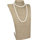 "Burlap Curved Bust Necklace Display 13-3/4"" H"
