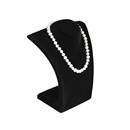 "Black Velvet Curved Bust Necklace Display 8.5"" H"