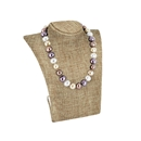 "Burlap Curved Bust Necklace Display 8.5"" H"