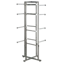 Folding tower rack