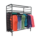 Ladder system double floor rack