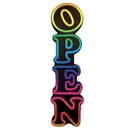 Animated Multi-Color OPEN Sign