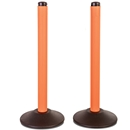 ChainBoss Molded Stanchion - Pre-Filled Orange Base