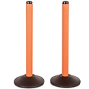 ChainBoss Molded Stanchions - Unfilled Orange Base