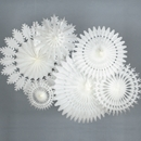 White Winter Paper Decoration Kit