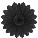 black paper flower hanging paper decorations